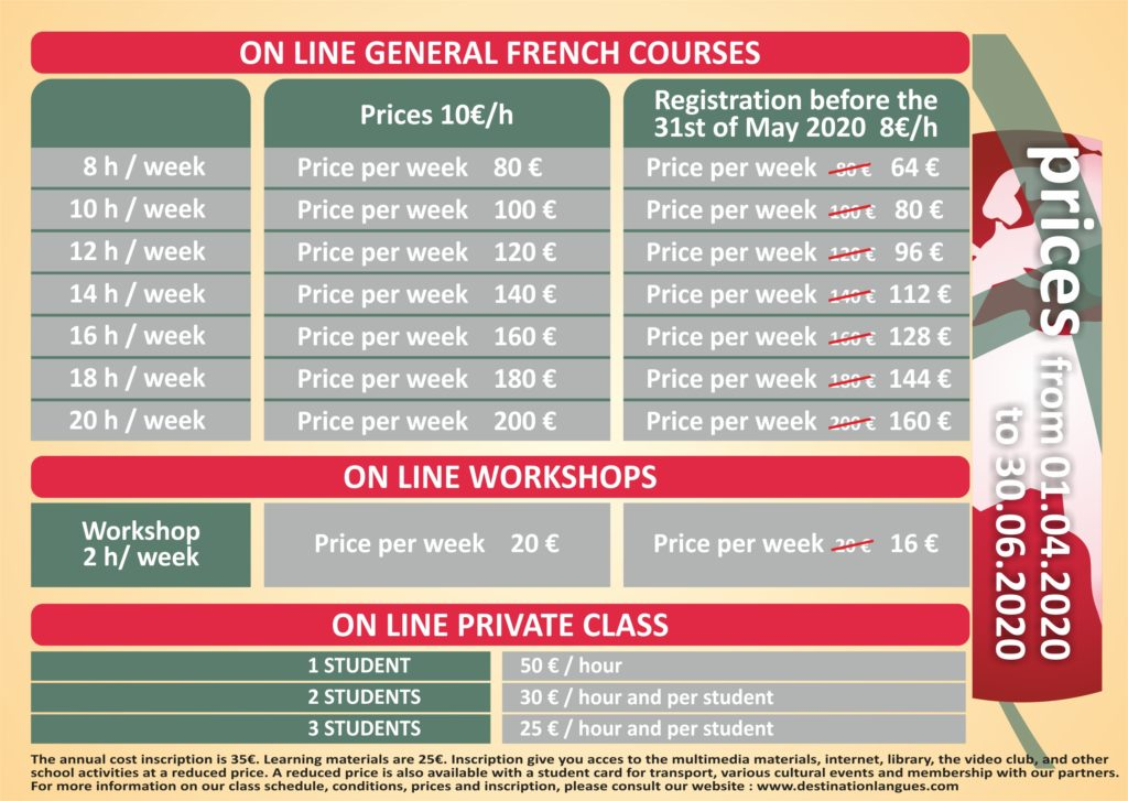 prices 01/04/20 - 30/06/20